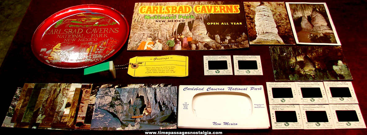 (30) Old Carlsbad Caverns National Park New Mexico Advertising Souvenir Items