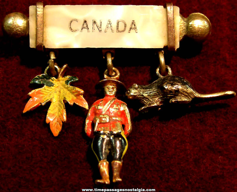 Old Canada Advertising Souvenir Metal Jewelry Charm Brooch Pin