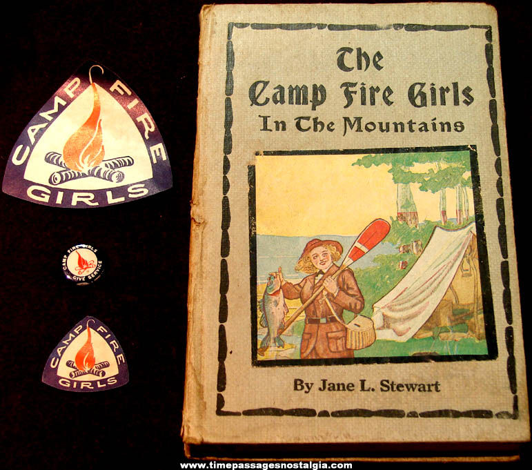 (4) Old Camp Fire Girls Advertising Items