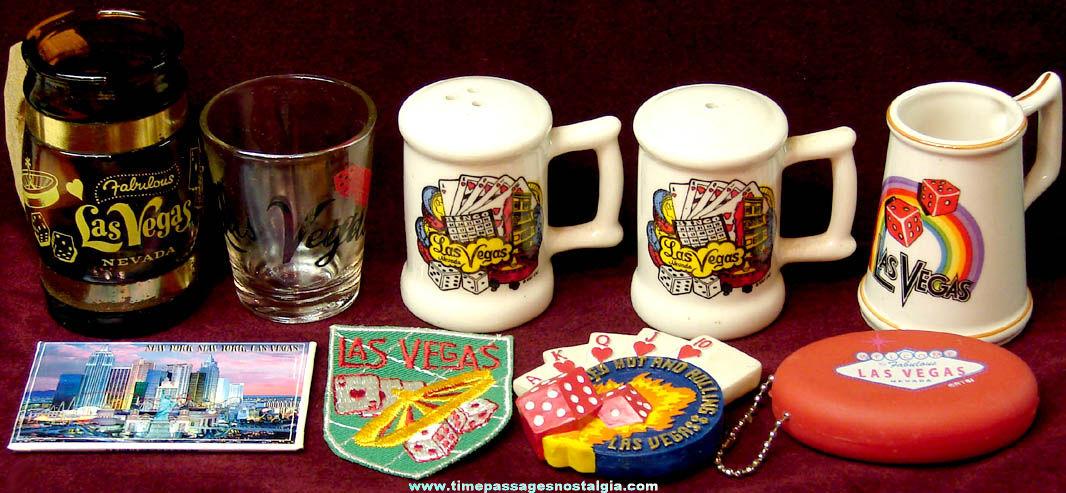 (9) Old Las Vegas Nevada Gambling Advertising and Souvenir Items