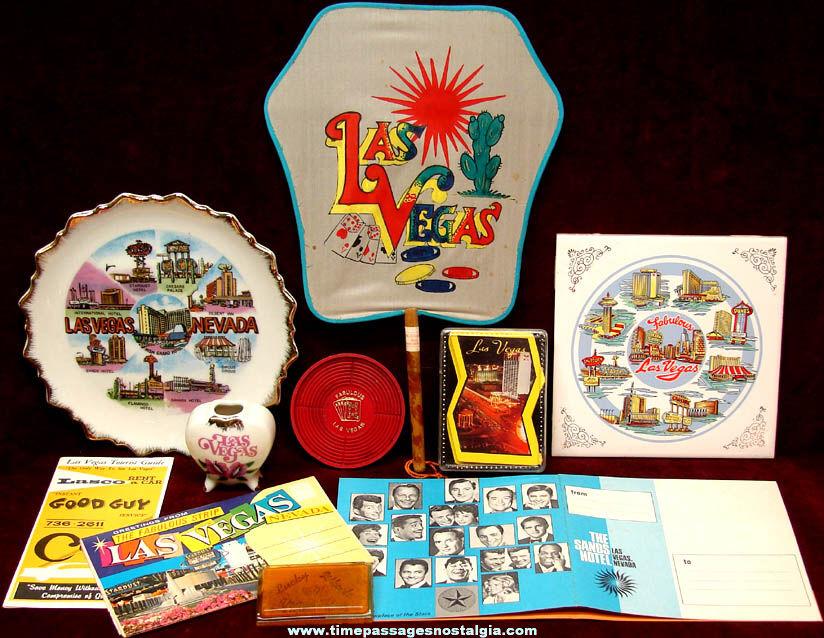 (10) Old Las Vegas Nevada Gambling Advertising and Souvenir Items