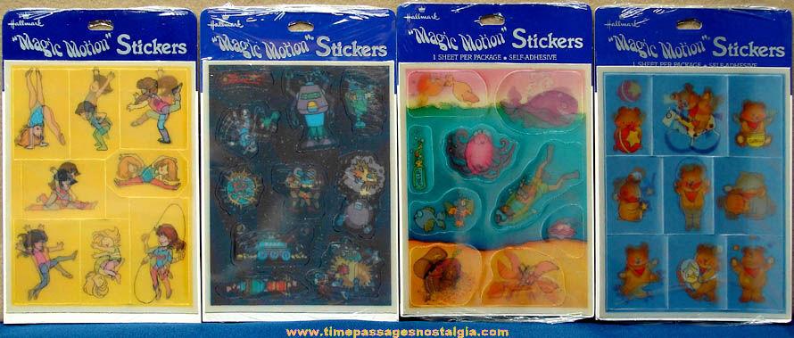 (4) Different Unopened Hallmark Magic Motion Flicker Sticker Sheets