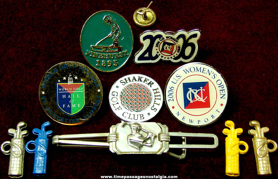 (11) Small Golf Advertising Sports Related Items