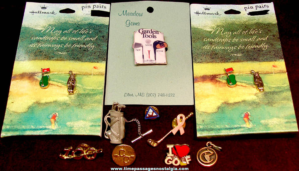 (12) Small Golf Advertising Sports Related Items