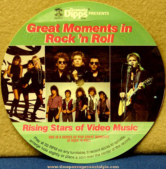 ©1986 Quaker Oats Company Rock 'n Roll Sweepstakes Premium Record