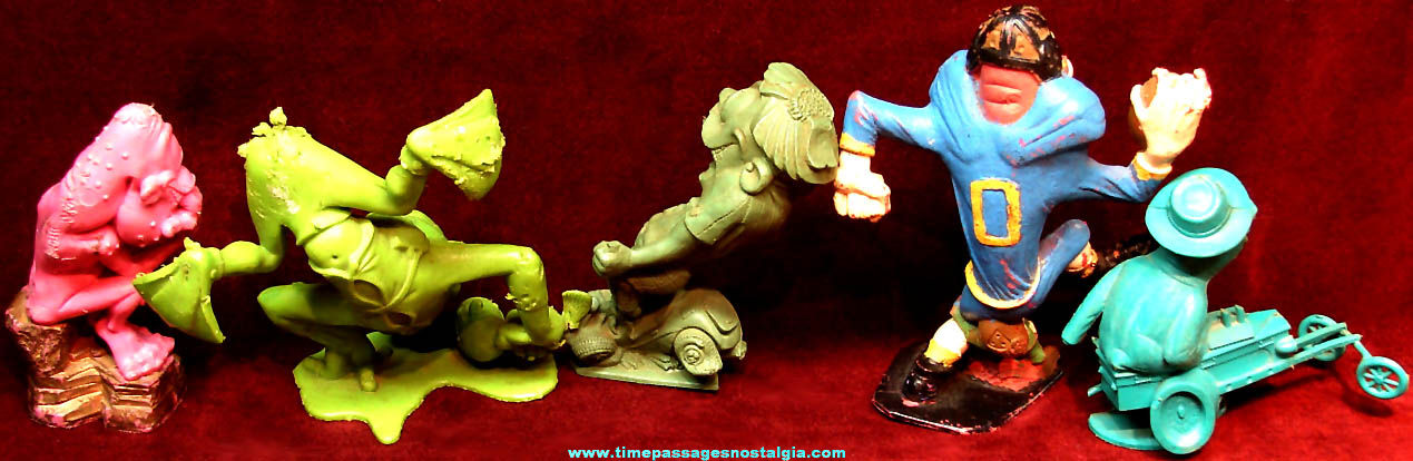 (5) Different 1960s Marx Nutty Mad & Weird Ohs Figurines