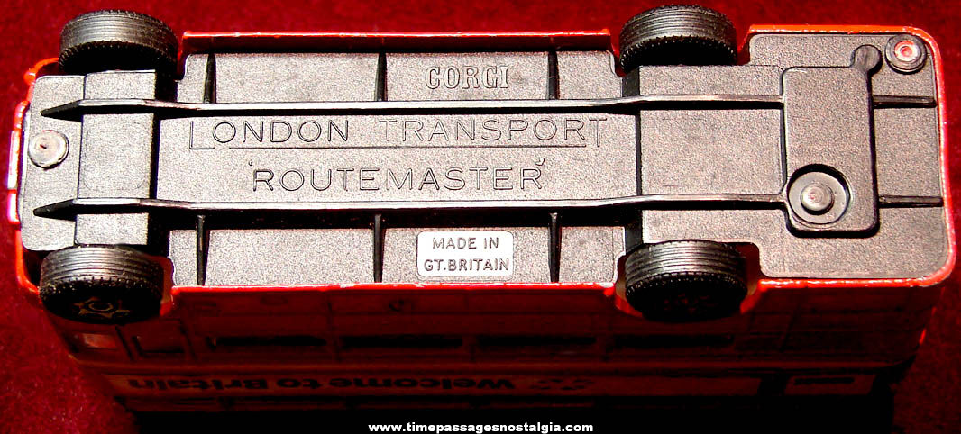 Old Corgi London Transport Routemaster Double Decker Diecast Toy Bus