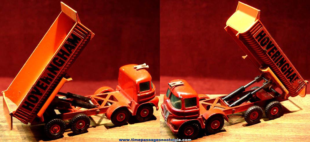 Old Lesney Matchbox King Size Hoveringham Diecast Toy Dump Truck