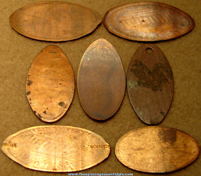 (7) Different Advertising & Souvenir Elongated Cents