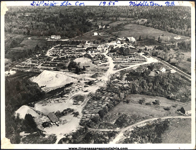 1955 DiPrizio Lumber Company Middleton New Hampshire Aerial Photograph