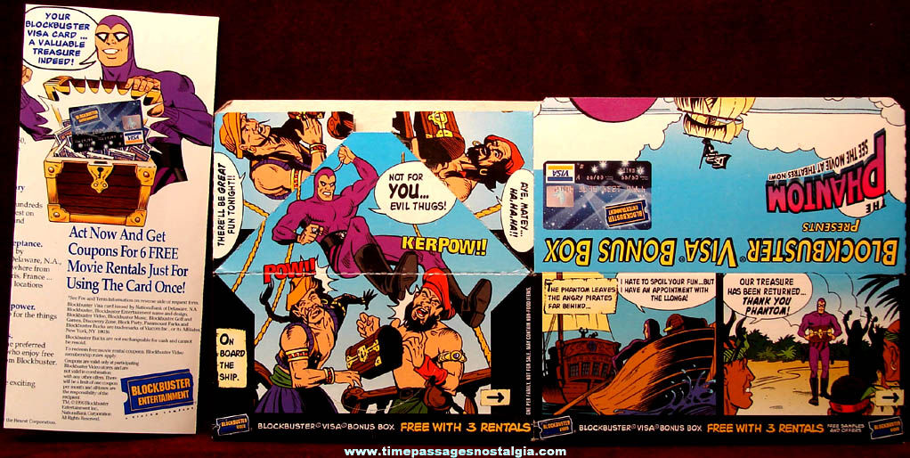 Unused ©1996 Phantom Movie Blockbuster Bonus Box and Brochure