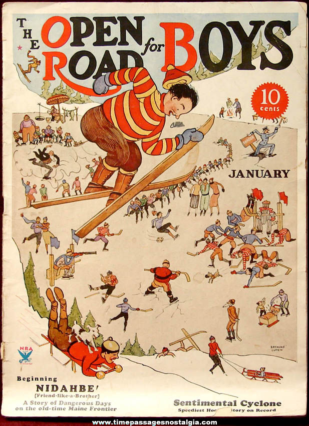 January 1934 Issue of The Open Road For Boys Magazine