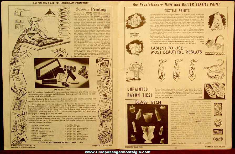 ©1951 Plasticast Company Advertising Craft Kit Catalog