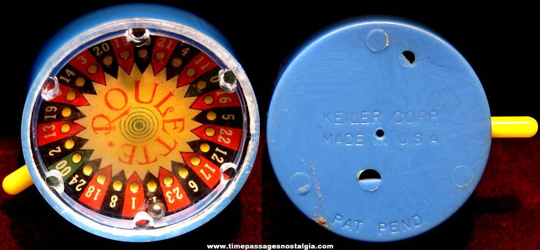 Old Keiler Roulette Wheel Pocket Gambling Game