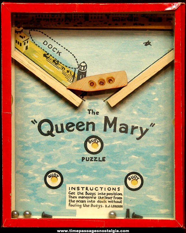 Old Robert Journet & Company The Queen Mary Dexterity Puzzle Game