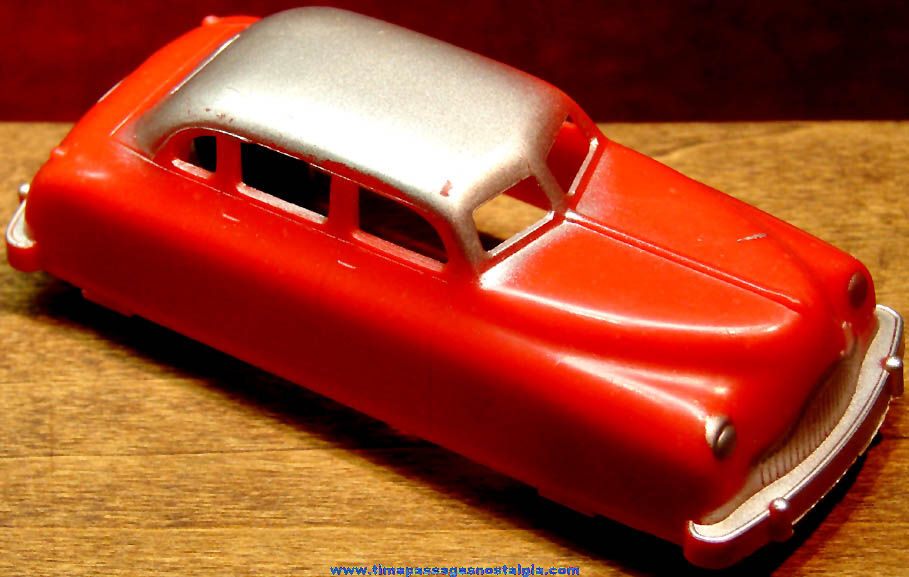 Old Red Hard Plastic Renwal Toy Car