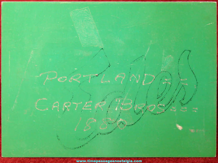 Portland Press Herald Newspaper Carter Bros Jewelry Metal Printing Plate