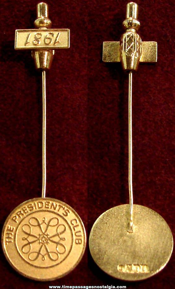 1981 Avon President's Club Advertising Employee or Award Jewelry Stick Pin