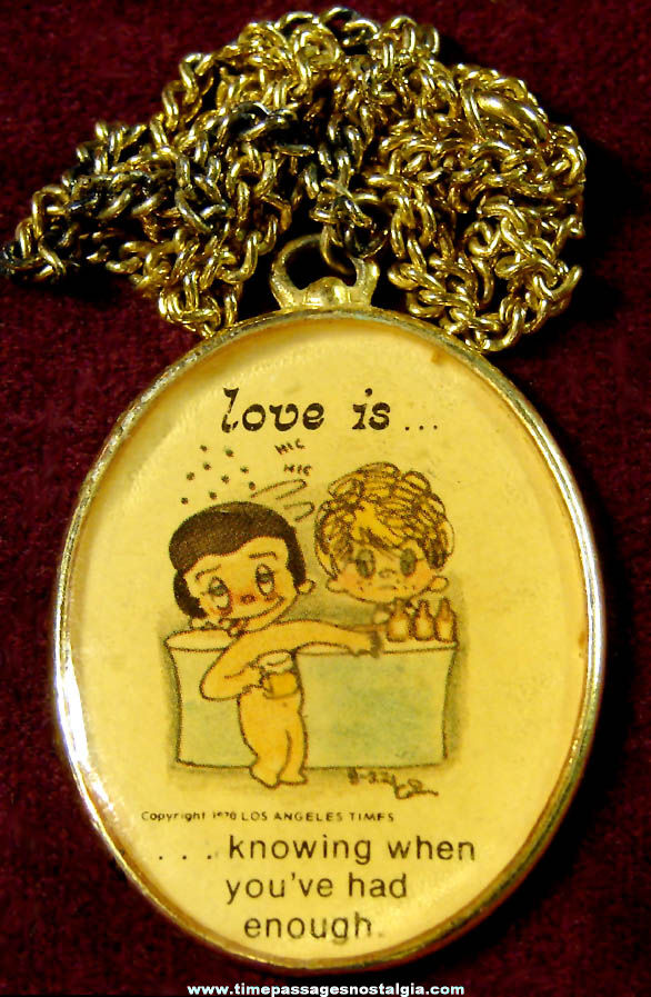 ©1970 Love Is... Newspaper Comic Strip Character Jewelry Necklace