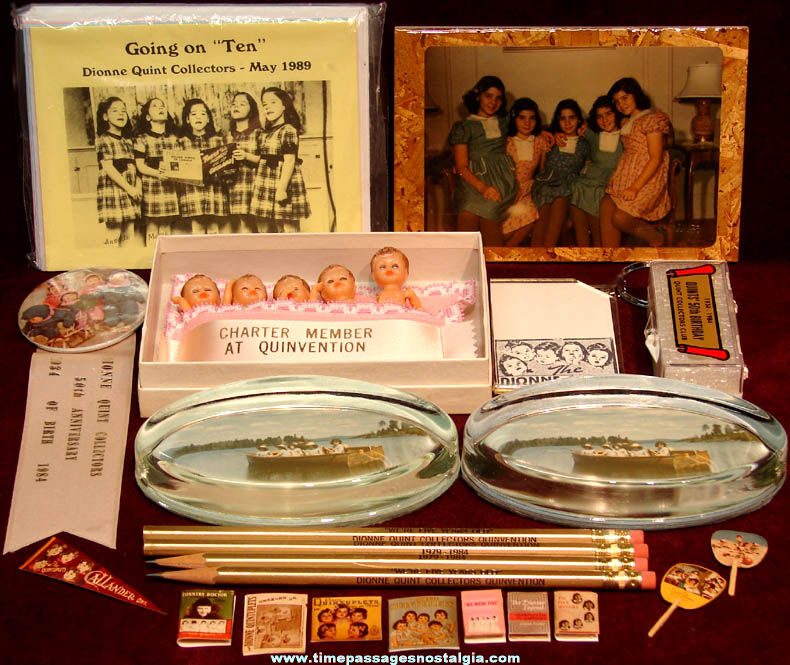 (26) Old Dionne Quintuplets Convention Souvenir Items