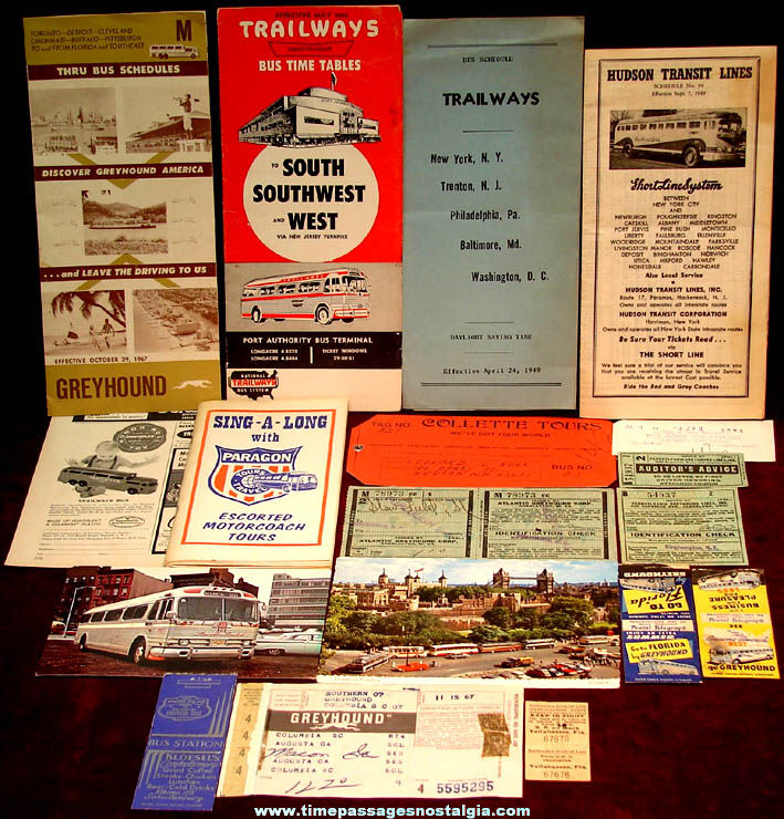 (19) Old Bus Advertising and Souvenir Paper Items