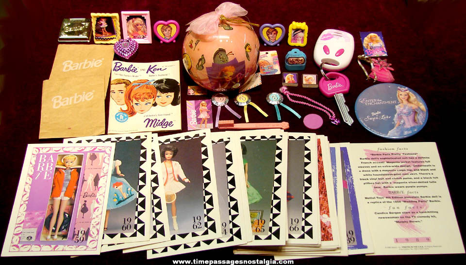 (69) Small Mattel Barbie Doll Character Related Items