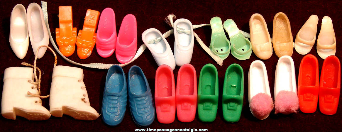 (13) Pairs of Barbie or Similar Doll Plastic Toy Shoes