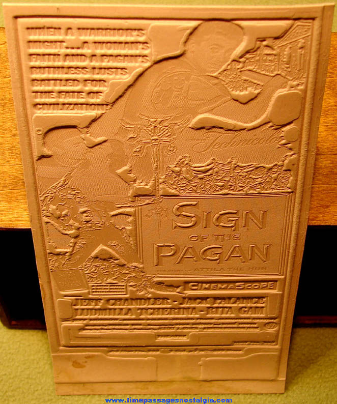 Unused ©1954 Sign Of The Pagan Movie Advertising Ad Mat Mold
