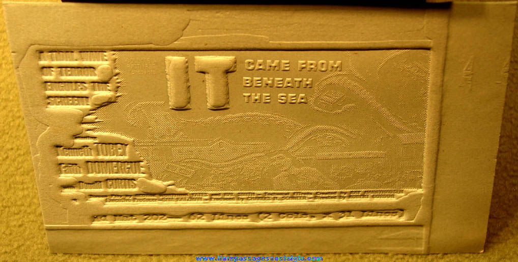 Unused ©1955 IT Came From Beneath The Sea Movie Advertising Ad Mat Mold