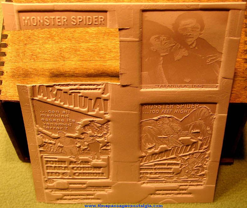 (2) Unused ©1955 Tarantula Monster Horror Movie Ad Mat Molds