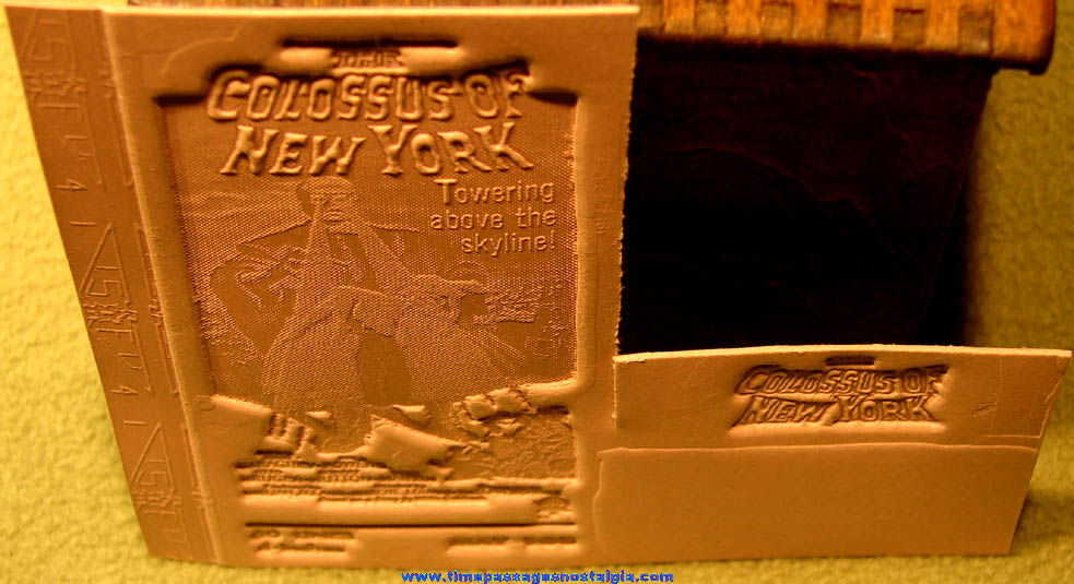 (2) Unused ©1958 The Colossus of New York Horror Movie Ad Mat Molds
