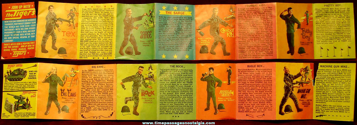©1966 Topper Tiger Army Soldier Toy Action Figure Advertising Booklet