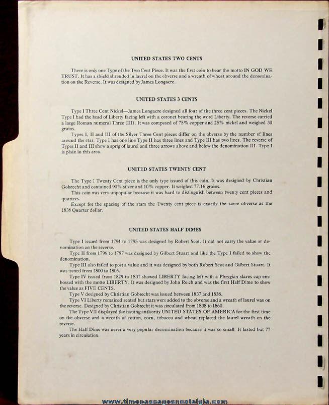 (13) Different ©1979 United States Obsolete Denomination Numistamps