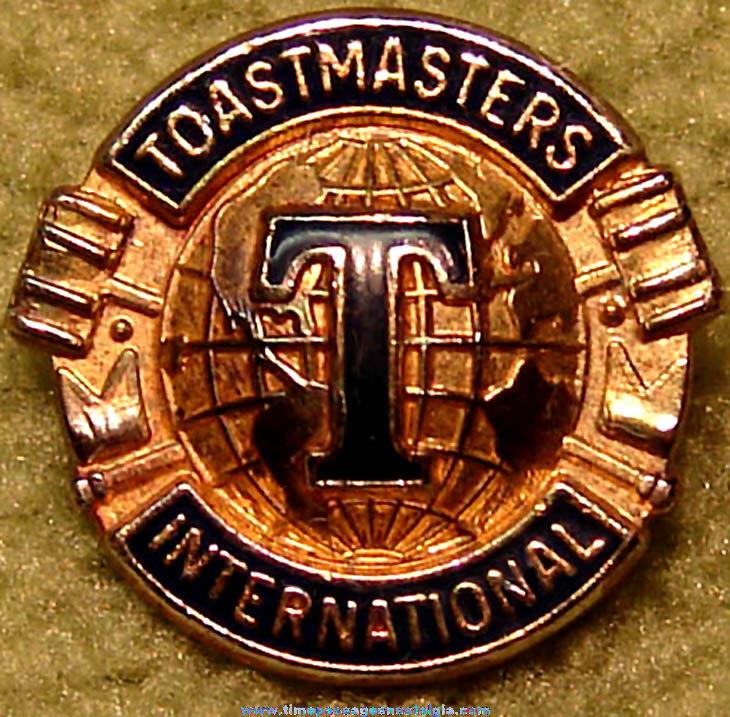 Old Toastmasters International Club Membership Advertising Jewelry Pin