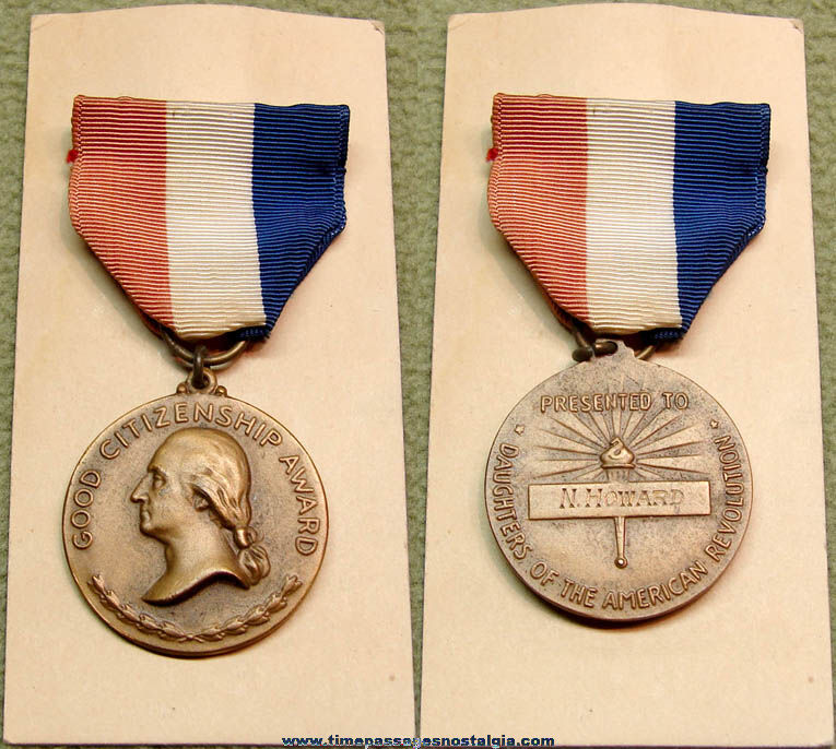 Old Daughters of The American Revolution Good Citizenship Award Medal