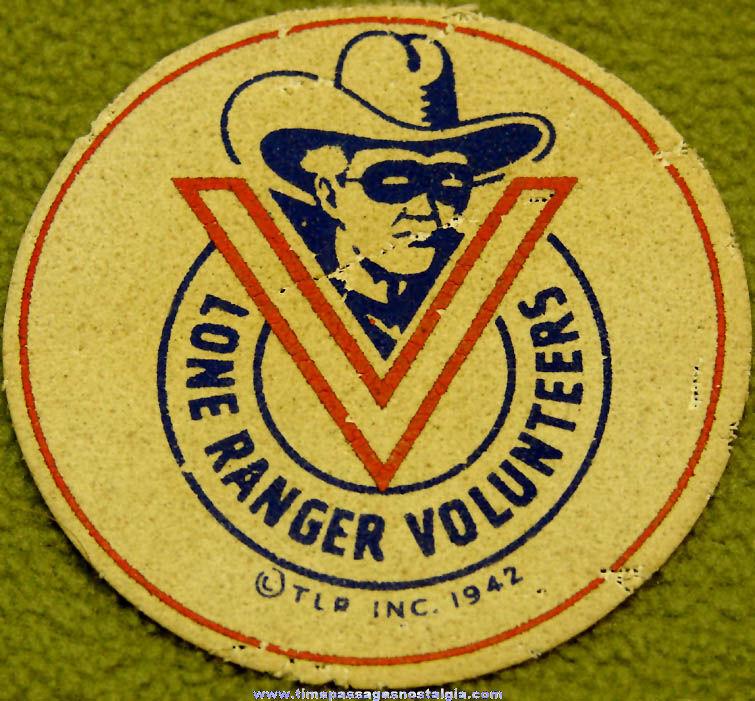©1942 Lone Ranger Cowboy Character Black Out Kit Luminous Cloth Patch