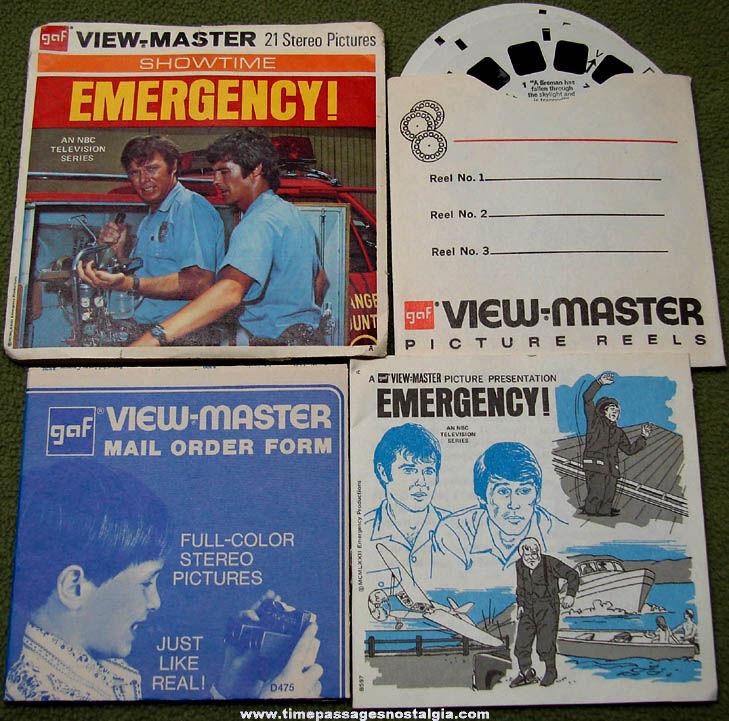 ©1973 EMERGENCY! Television Series View Master Reel Set