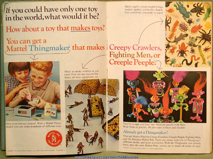 November 1966 Golden Magazine For Boys & Girls With Great Vintage Advertising