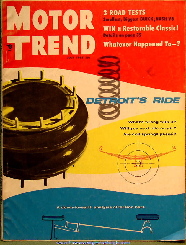 © July 1955 Motor Trend Magazine Back Issue Volume 7 Number 7