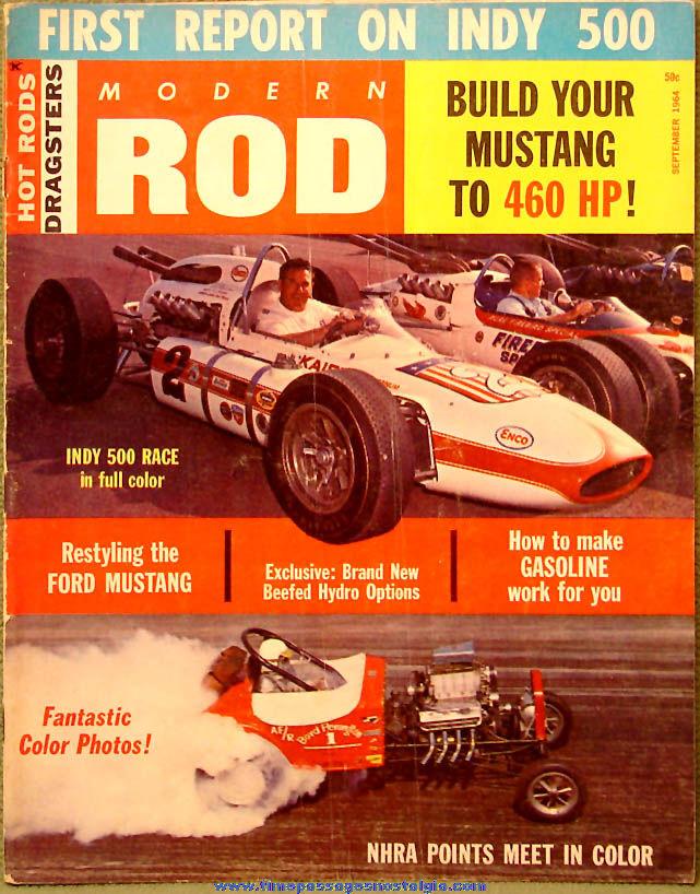 © September 1964 Modern Rod Magazine Back Issue Volume 1 Number 4
