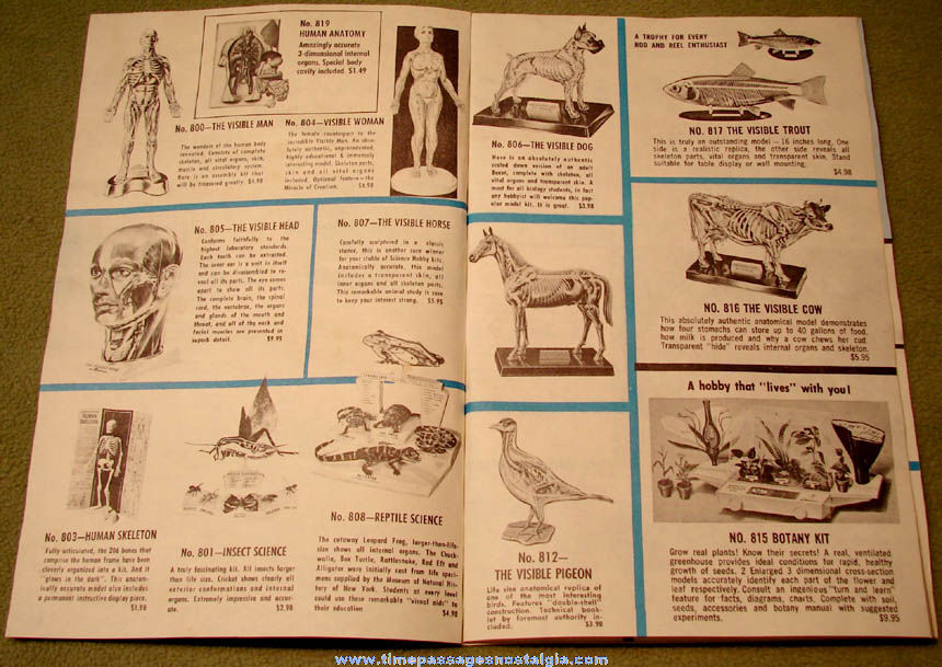 Old (8 page) Renwal Plastic Assembly Model Kit Hobby Catalog