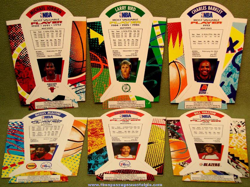 (6) Different Unused ©1994 McDonald's Restaurant Basketball MVP Player Advertising French Fry Box Holders
