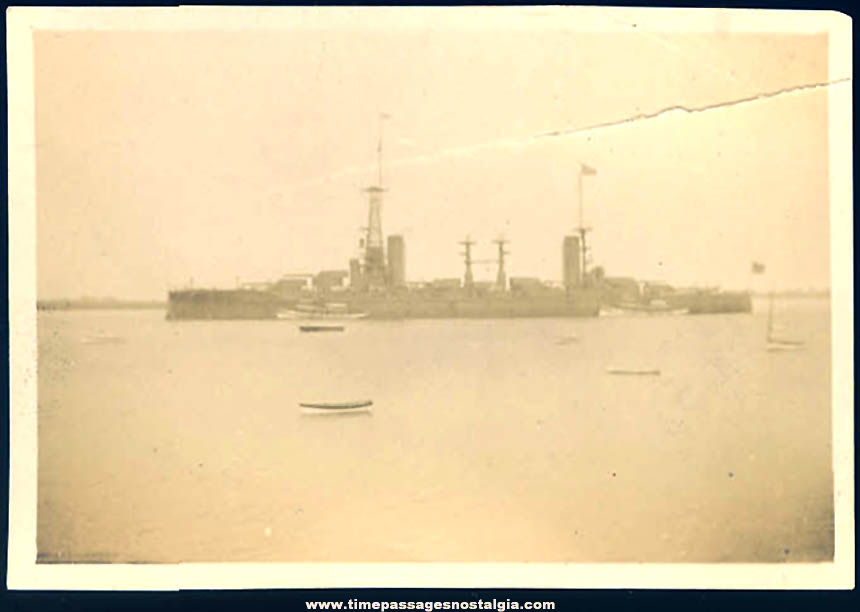 Old American Made Argentina Navy Battleship Rivadavia Photograph
