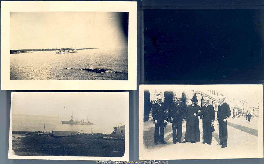 (12) 1926 United States Navy Light Cruiser U.S.S. Memphis CL-13 Sailor Photographs