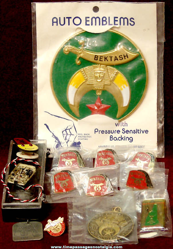 (12) Small Shriners International Masonic Fraternal Items