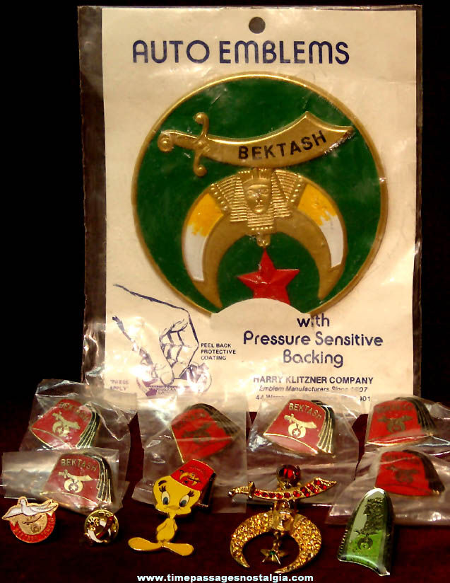(12) Small Shriners International Masonic Fraternal Items