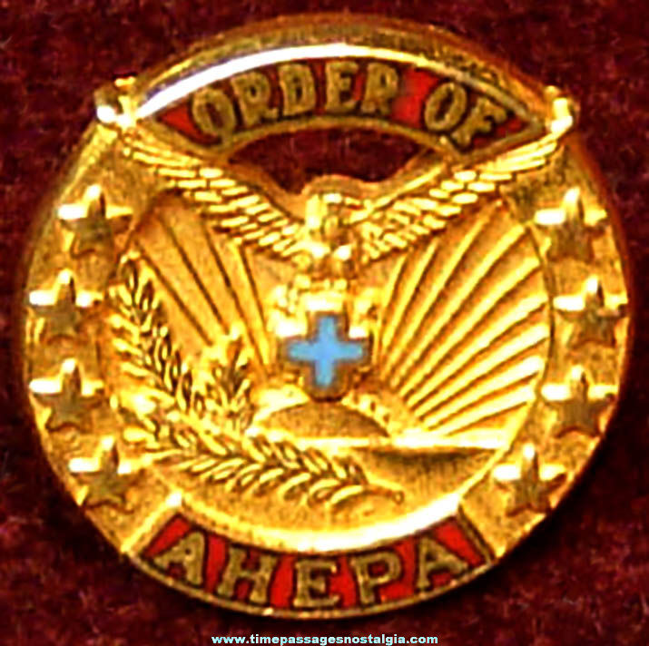 Old American Hellenic Educational Progressive Association Order of Ahepa Advertising Membership Pin