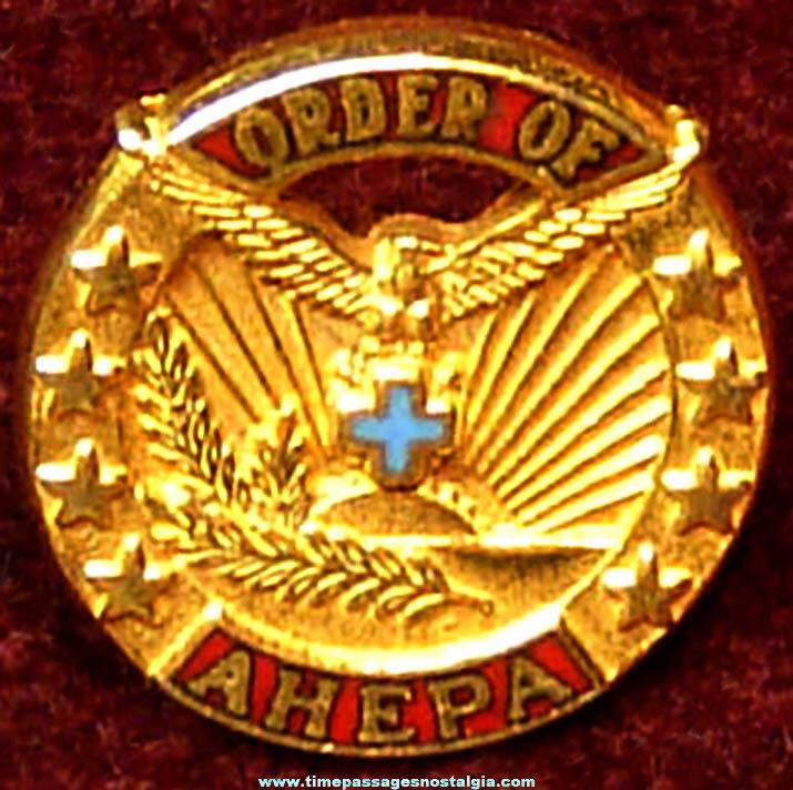 Old American Hellenic Educational Progressive Association Order of Ahepa Advertising Membership Pin