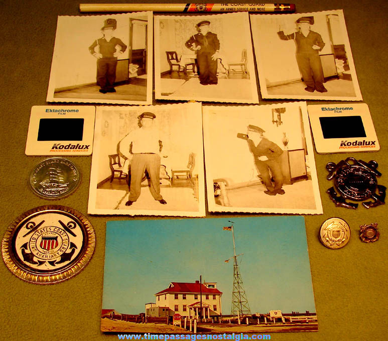 (14) Different Small Old United States Coast Guard Related Items