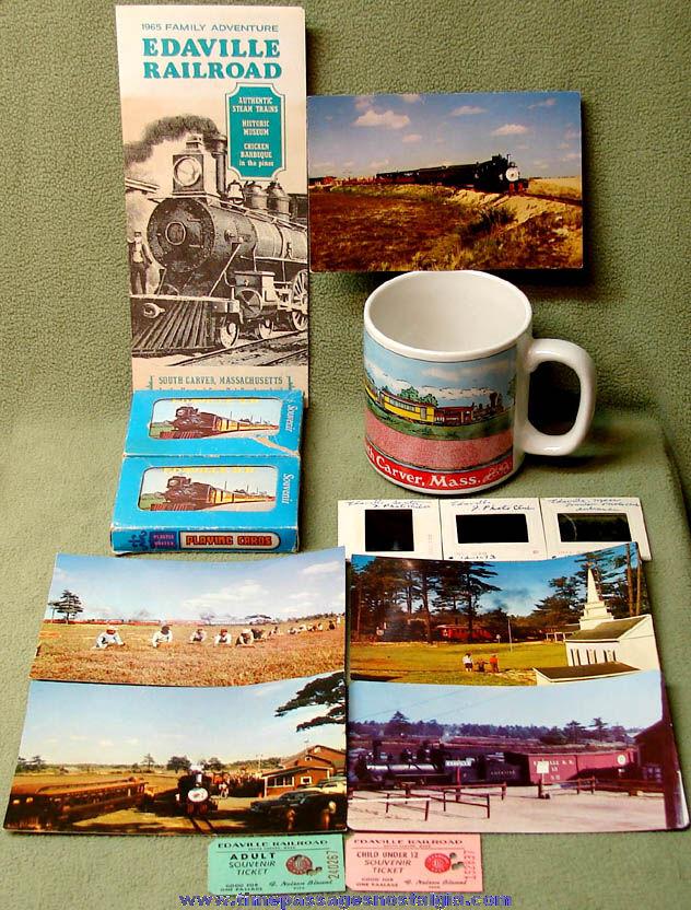 (14) Old Edaville Railroad South Carver Massachusetts Advertising Souvenir Items